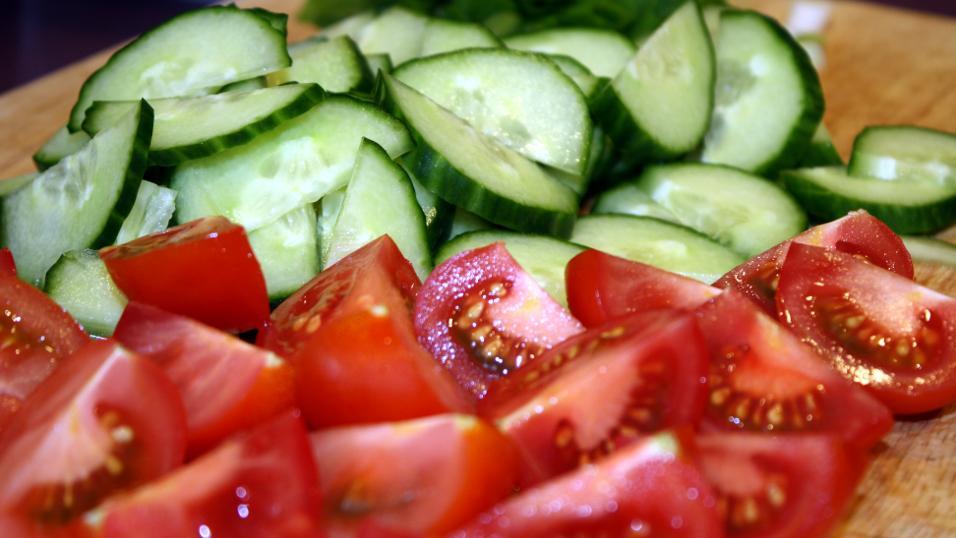 Измельчённые овощи