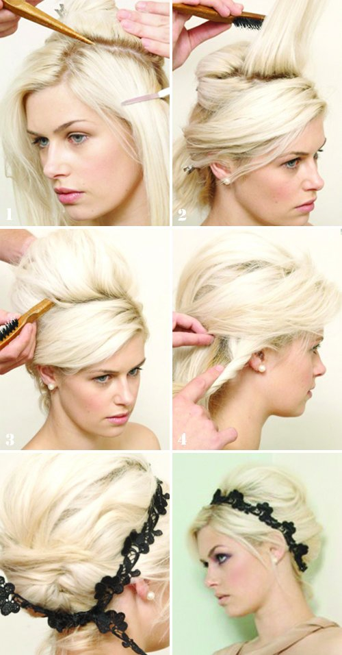 Инструкция по выполнению причёски на коротких волосах