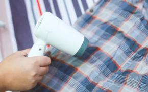 Использование фена для сушки или глажки рубашки