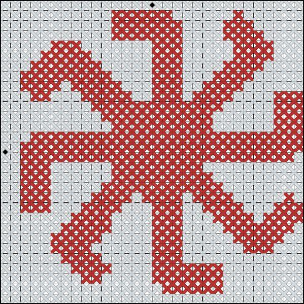 Схема вышивки символа Колядник