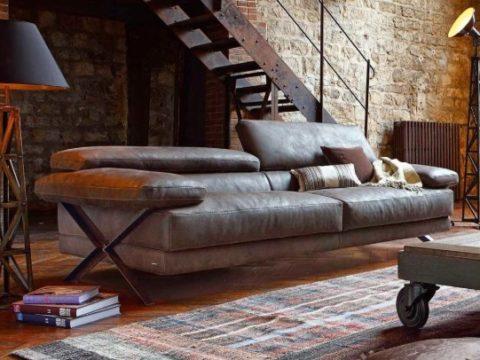 кожаный диван в квартиру