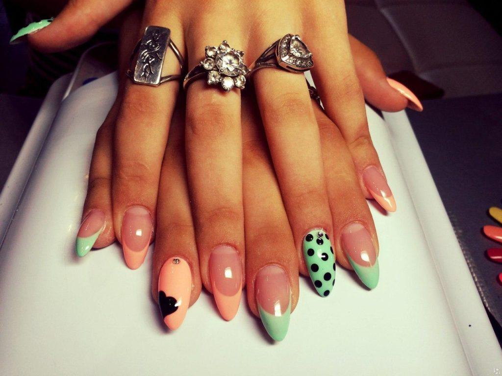 Красивые наращённые ногти