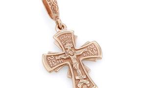 Маленький нательный крест из золота
