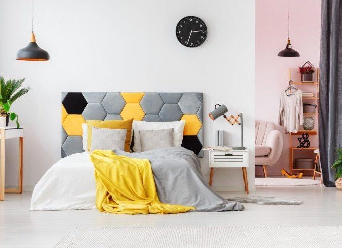 кровать с изголовьем фото