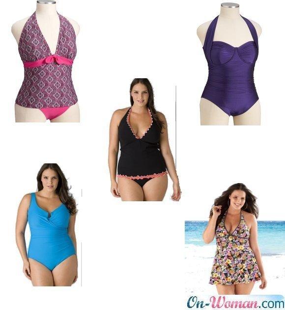 купальники для женщин с широкими бёдрами фото
