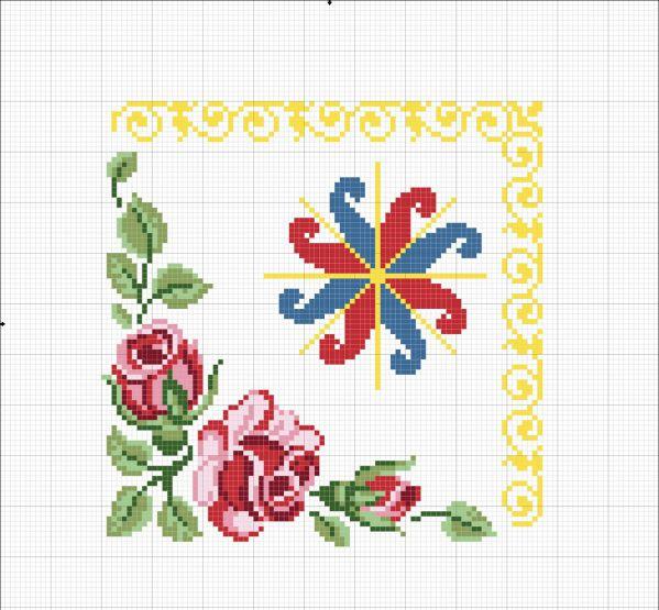 Схема вышивки Ладинца с розами