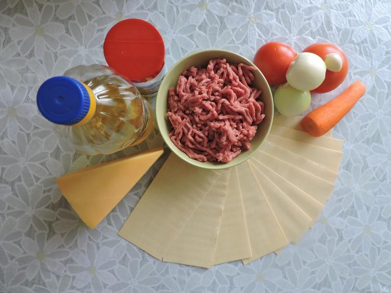 Ингредиенты лазаньи