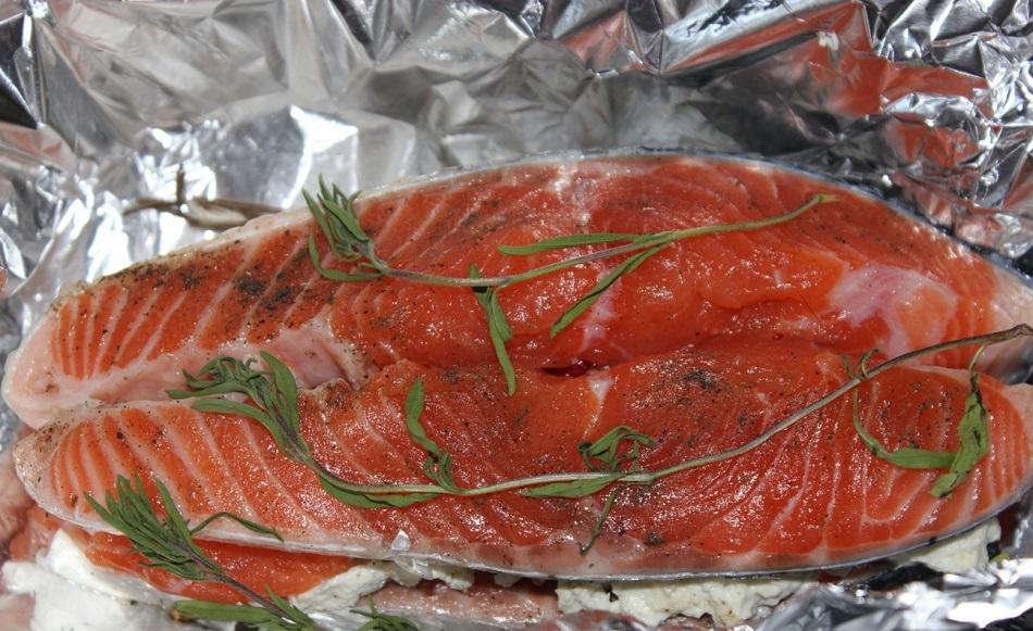 стейки семга запеченная в духовке в фольге рецепт с фото