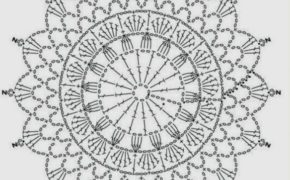 Ловец снов: схема вязания крючком