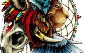 Ловец снов со львом