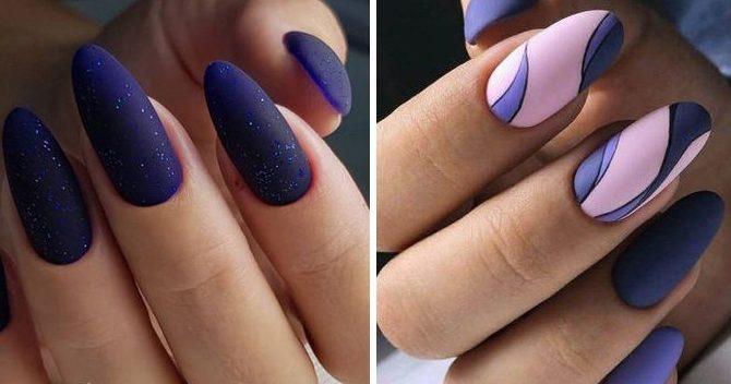 новый дизайн миндалевидных ногтей