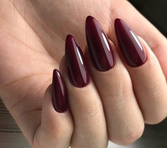 маникюр на длинные ногти миндалевидной