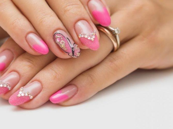 миндалевидные ногти короткие