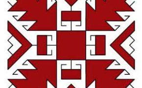 Марийский символ дубовые листья
