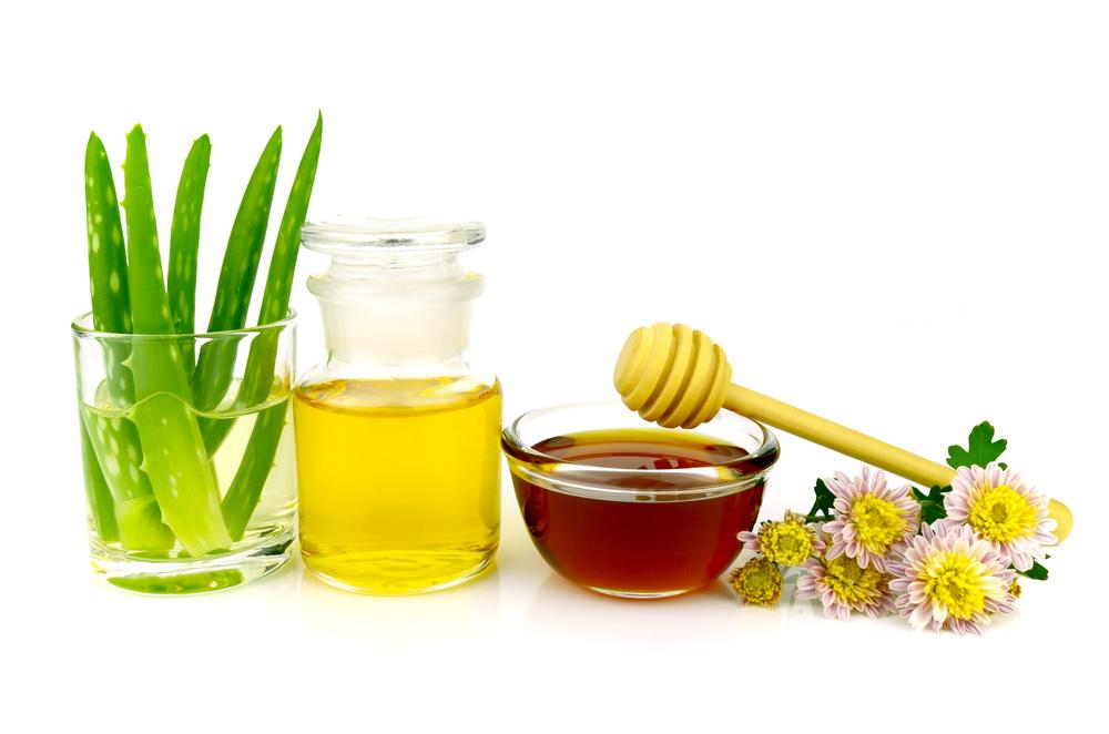 Алоэ, мёд, масло и цветы