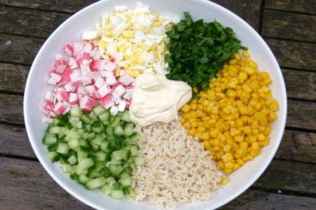 салат крабовый рецепт с фото классический