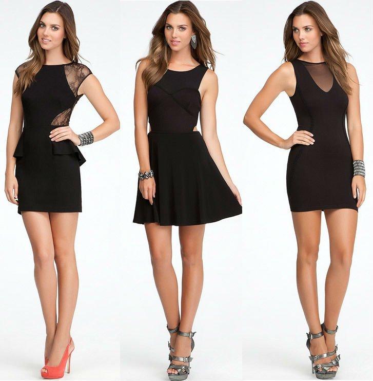 Фасон короткого платья на девушку
