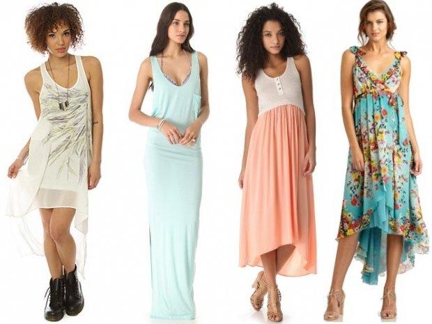 Летние платья для невысоких