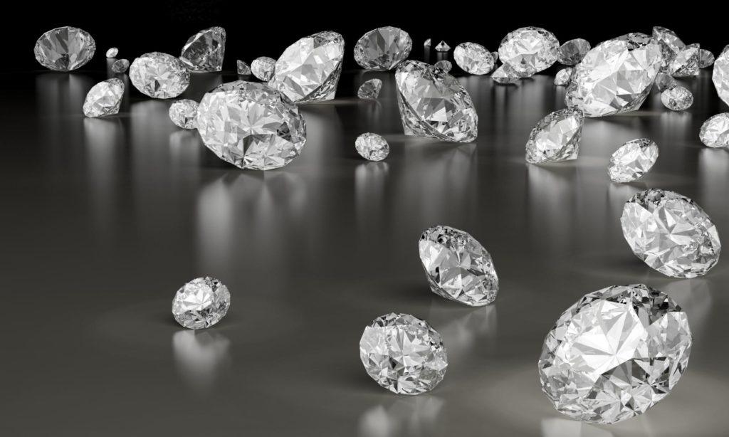 Много бриллиантов