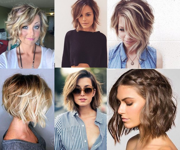Модные причёски 2018 на средние волосы фото