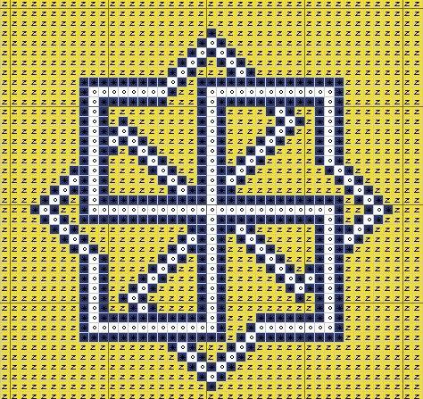 Схема вышивки символа Молвинец