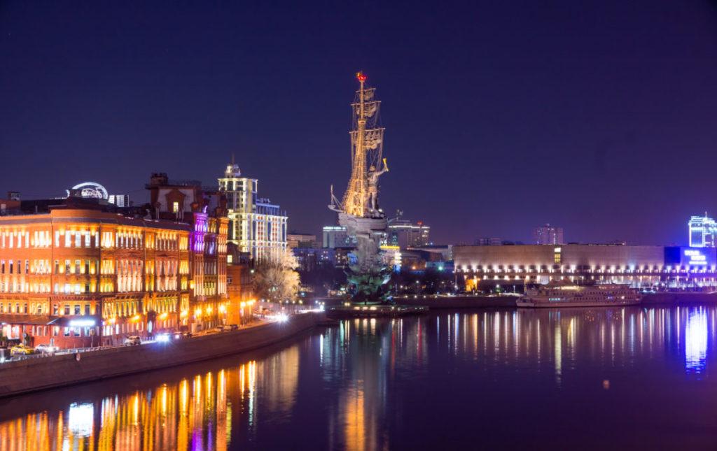 москва ночью