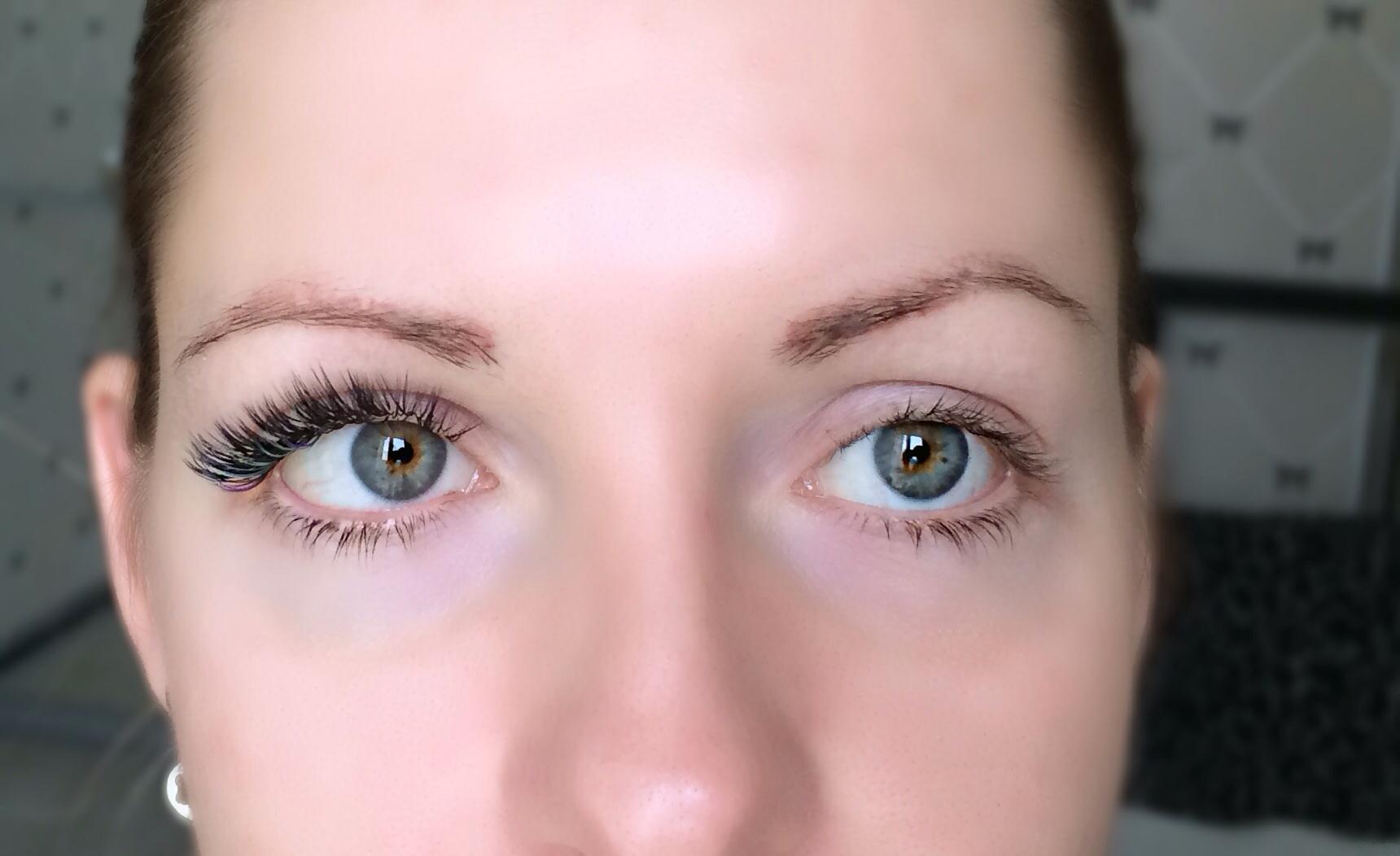 Наращивание ресниц для круглых глаз фото