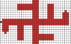 Схема вышивки символа Небесный крест