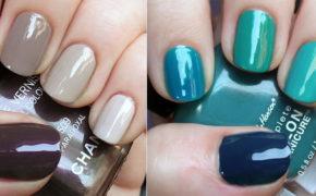 Ногти с разными покрытиями