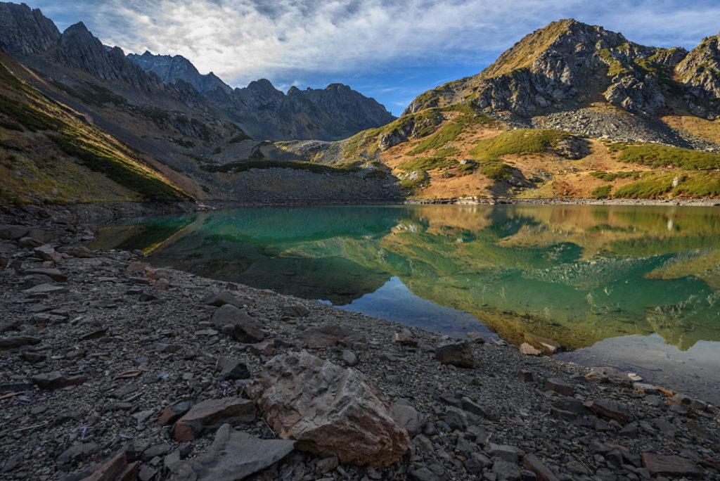 Обмелевшее озеро