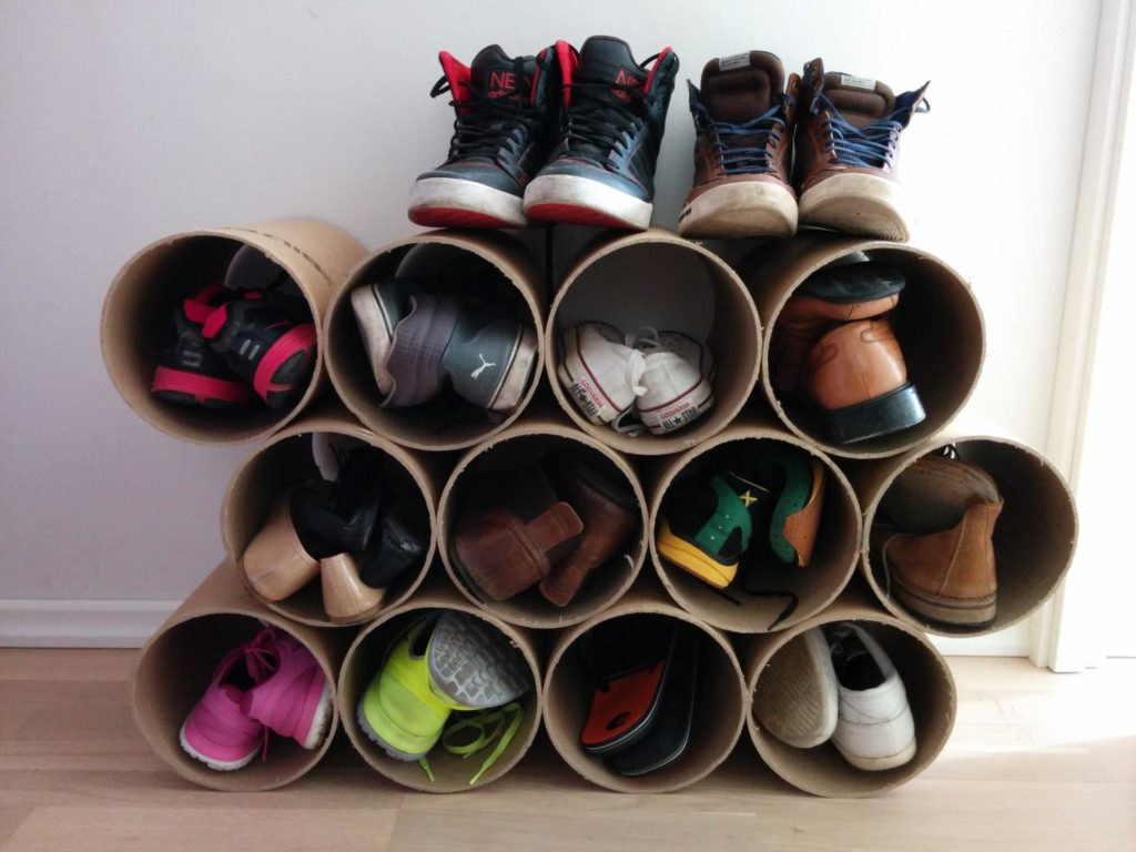 Обувница из полипропиленовых труб