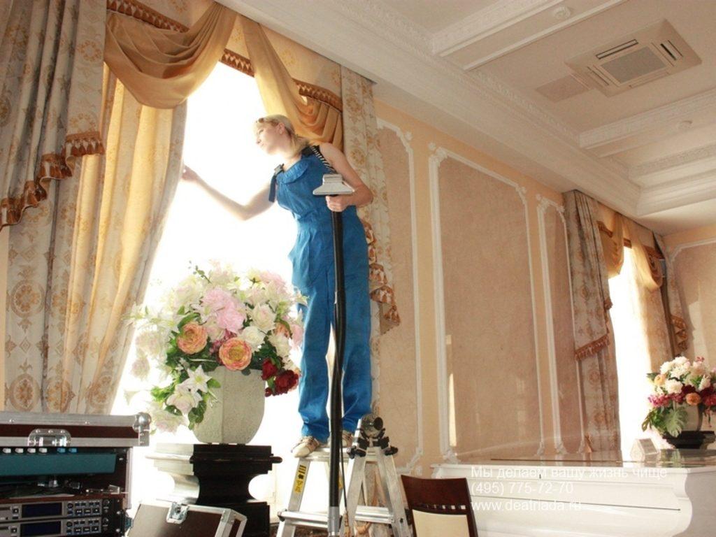 Очищение штор пароочистителем