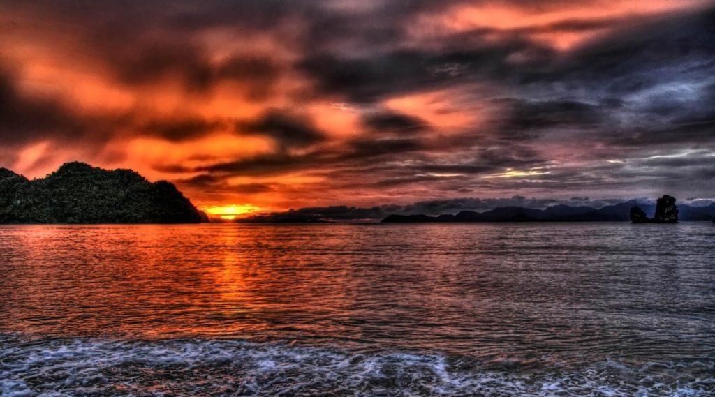 океан на закате