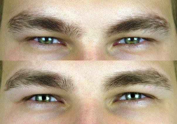 Окрашивание мужских бровей