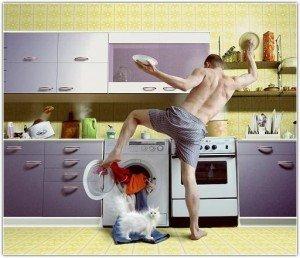 муж помогоает воспитывать детей