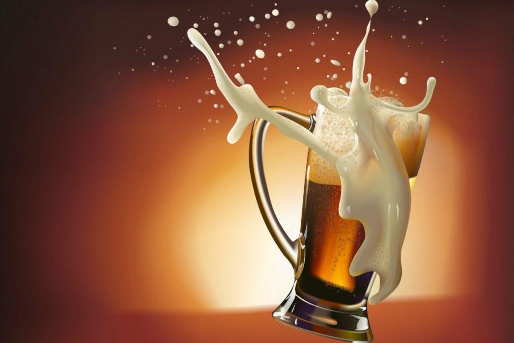 Пиво разлилось