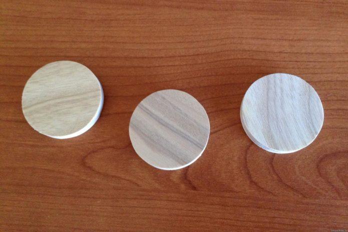 Деревянные круглые плашки