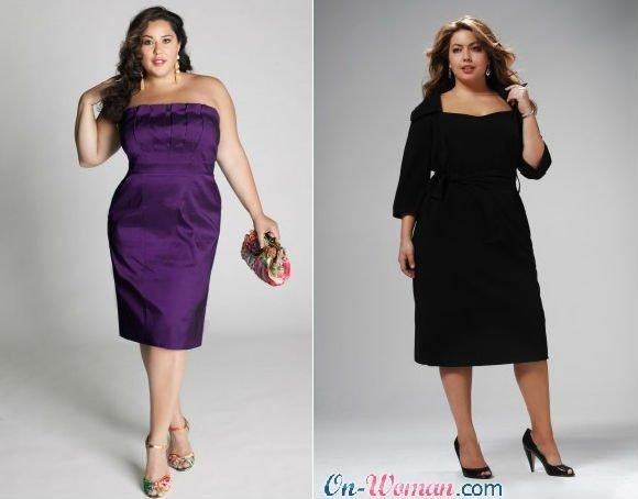 платья для больших размеров