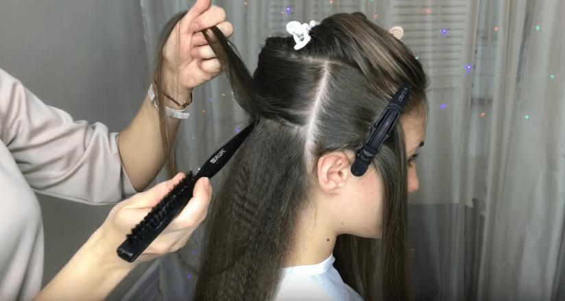 Подготовка к многослойной причёске