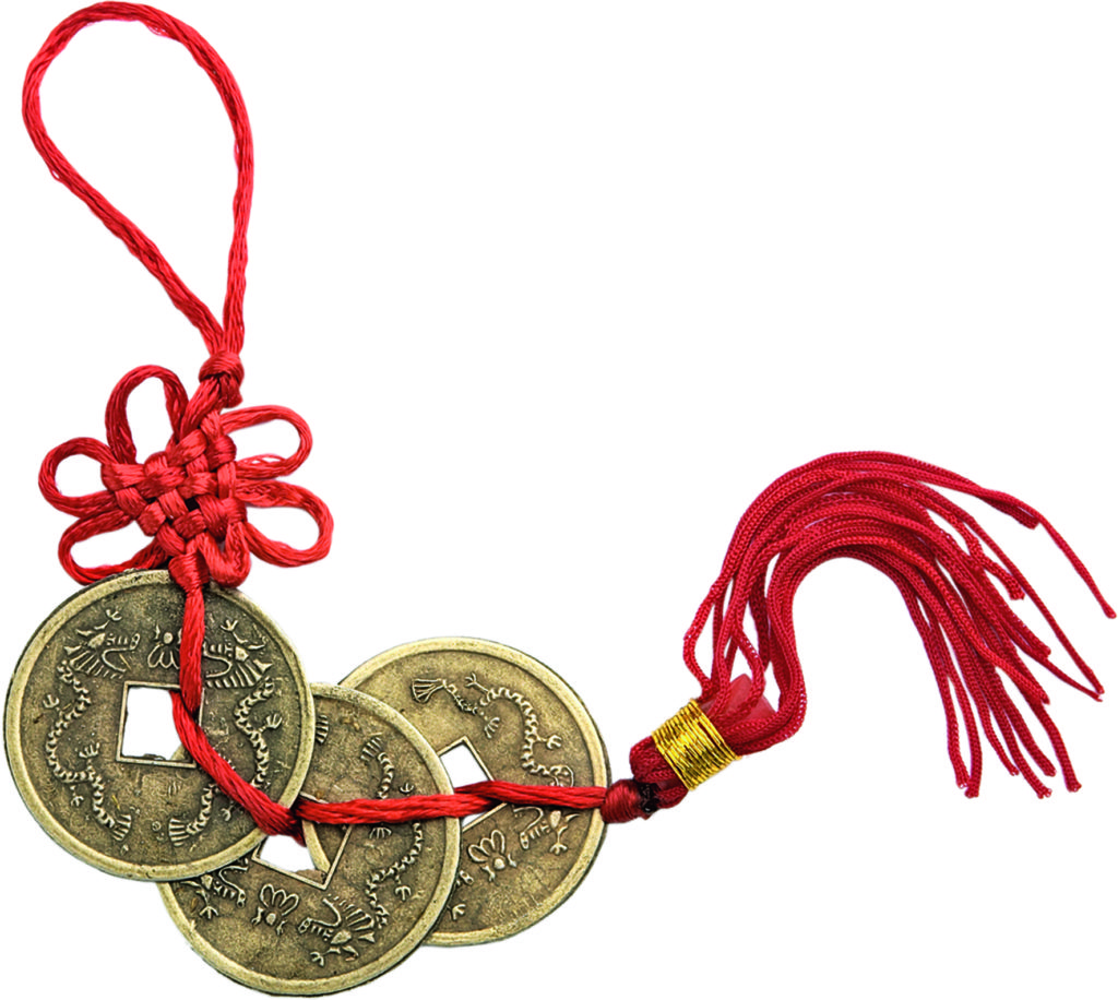 Подвеска из трёх китайских монет