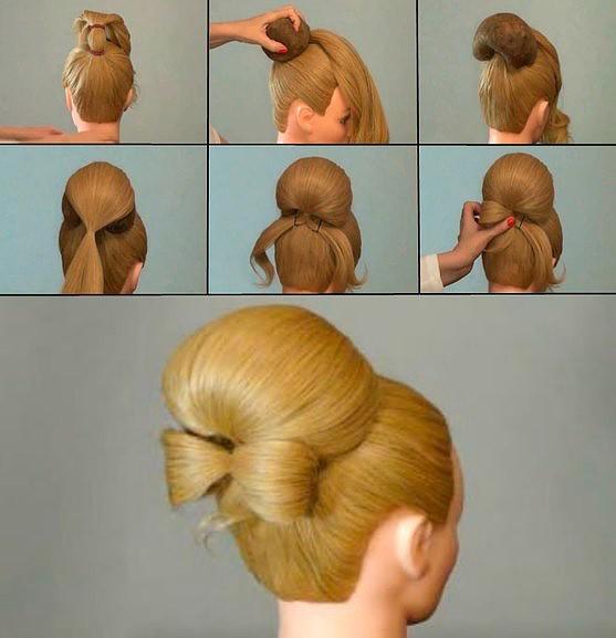 Поэтапное создание прически на парикмахерском манекене