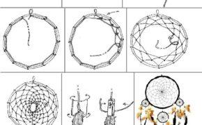 Схема плетения классического ловца снов