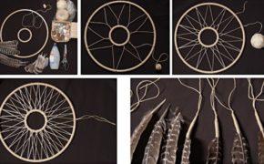 Схема плетения ловца снов с кольцом внутри