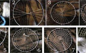 Схема плетения сибирского ловца снов