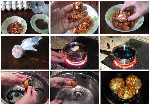 окрашивание яиц на пасху своими руками