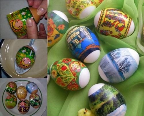 как красиво украсить яйца на пасху