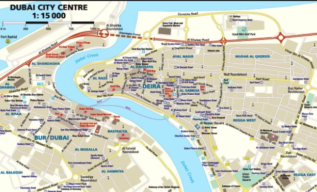 туристическая карта дубая