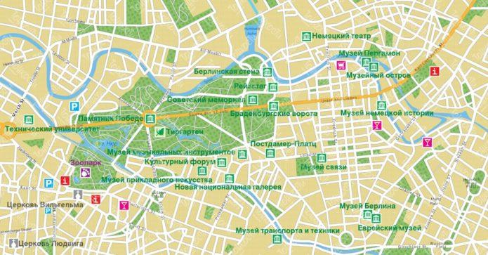 туристическая карта берлина
