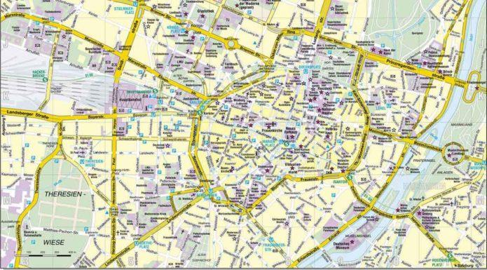 туристическая карта мюнхена