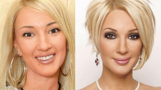 лера кудрявцева с макияжем и без